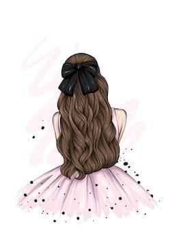 美しいドレスを着た女の子