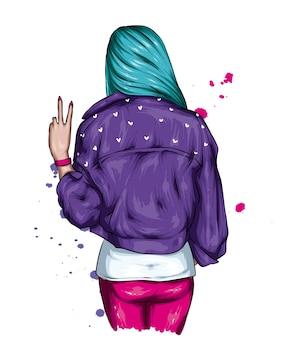 おしゃれなジャケットの女の子