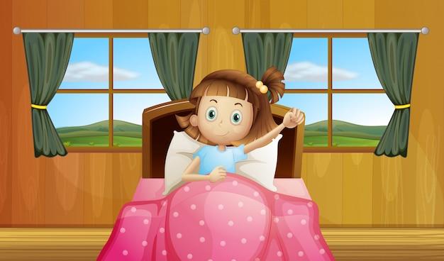 ベッドの女の子
