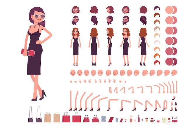 Набор для создания персонажей девушки в вечернем платье
