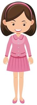 핑크 드레스 만화 캐릭터 소녀