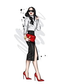 スタイリッシュなビジネス服の女の子