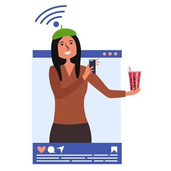 Девушка влиятельная фотография пить телефон