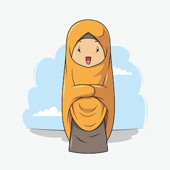 A girl is praying