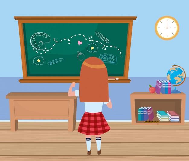 Girl kid at school