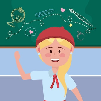 Girl kid of school