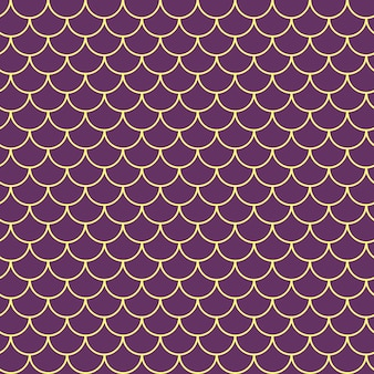 Girl mermaid seamless pattern. purple fish skin backdrop. tillable background for girl fabric, textile design, wrapping paper, swimwear or wallpaper. girl mermaid texture with fish scale underwater.