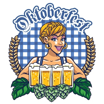 Girl of oktoberfest design