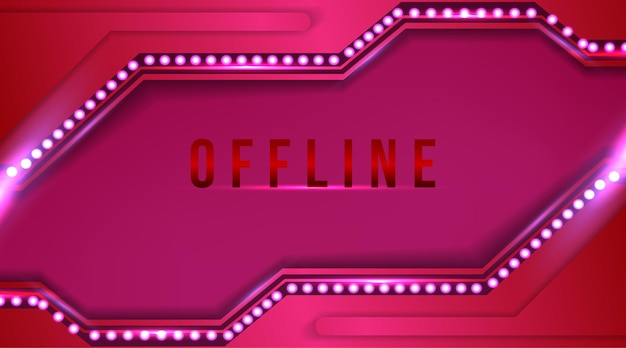 Girl, pink color offline banner with abstract background for twitch