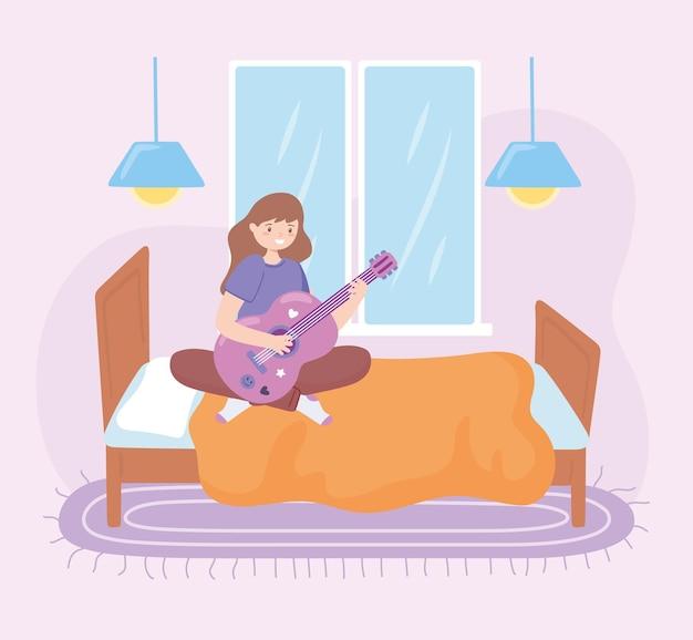 기타를 치는 소녀