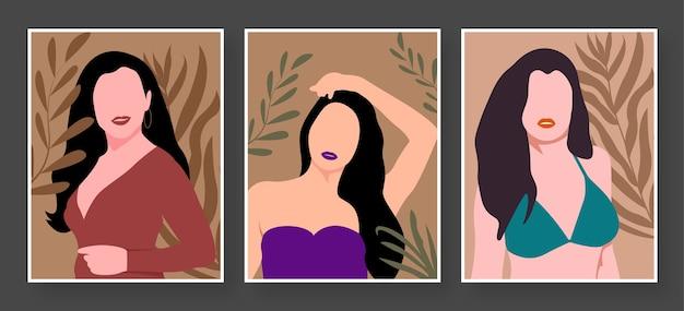 Girl pose illustration vector design art - girl avatar