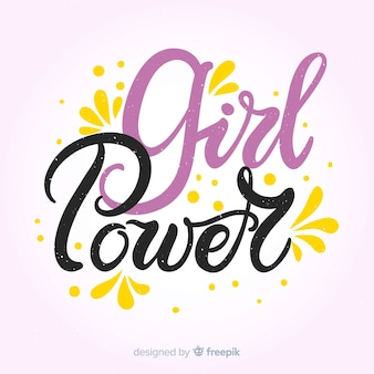 Girl power background
