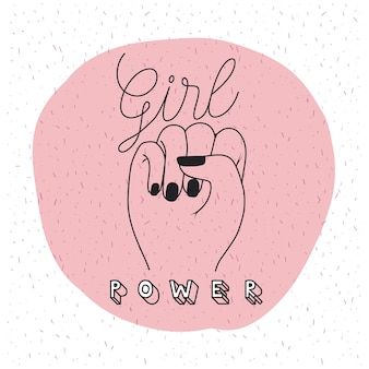 Girl power emblem