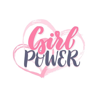 Girl power lettering. motivational quote.