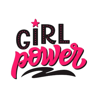 Girl power. vector calligraphy template