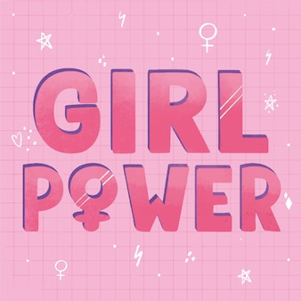 Girl power with gender symbols