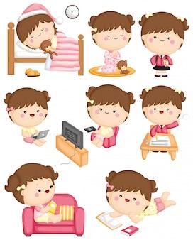 Girl routine activity