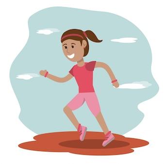 여자 러너 스포츠 학교 교육