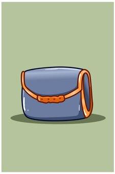 여자의 지갑 만화 일러스트 레이션