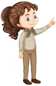 Girl in scout uniform