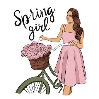 Girl spring