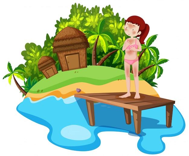 Girl on summer holiday