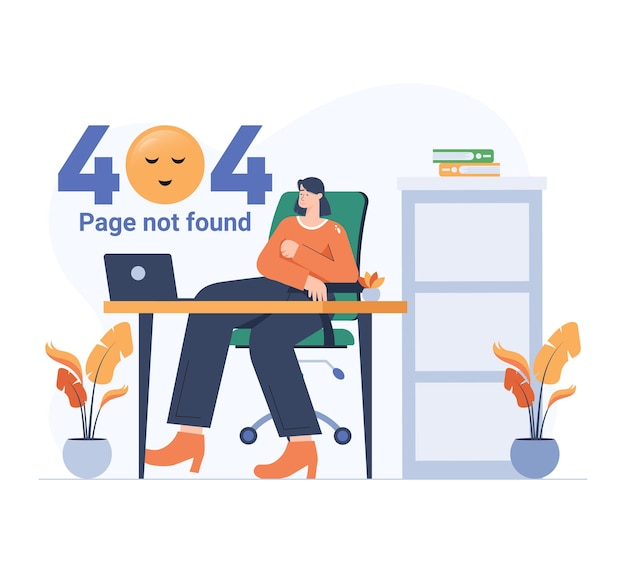 Girl taking a break while empty page error