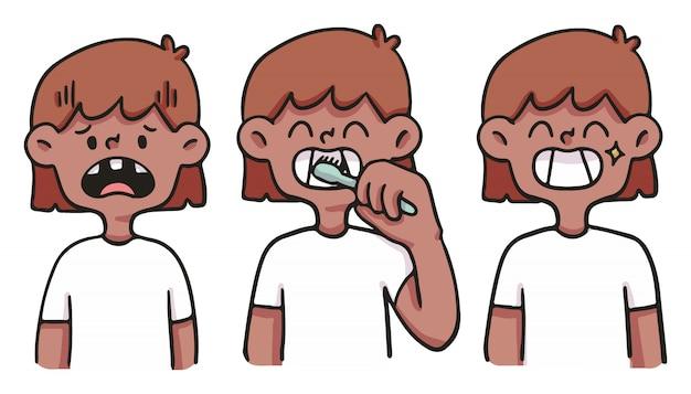 Девушка заботится о зубах