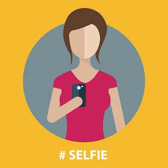 Girl taking self photo