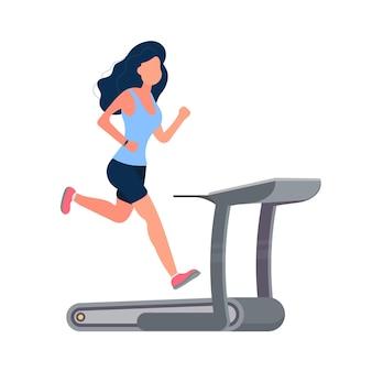 Girl on the treadmill