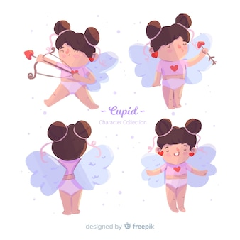 Girl valentine cupid collection