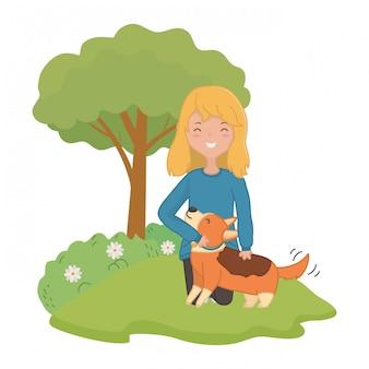 Девушка с собакой мультфильма