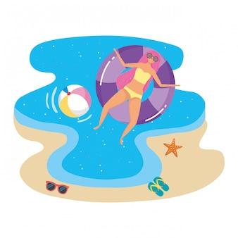 Girl with summer swimwear
