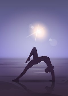Girl yoga position