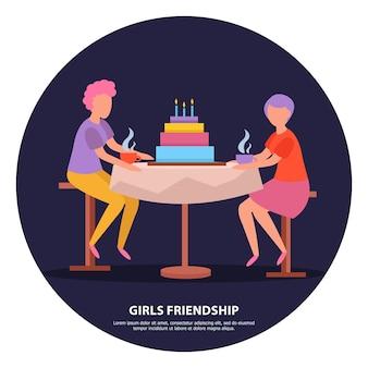 Girlfriends birthday party night celebration