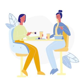 Girlfriends in sushi bar