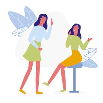 Girlfriends telling secret
