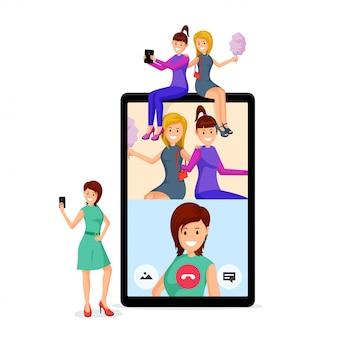 Girlfriends video call