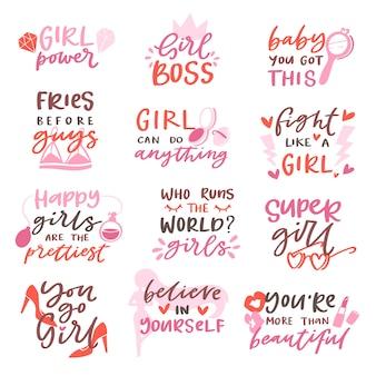 Девчачьи надписи и красивый женский текст
