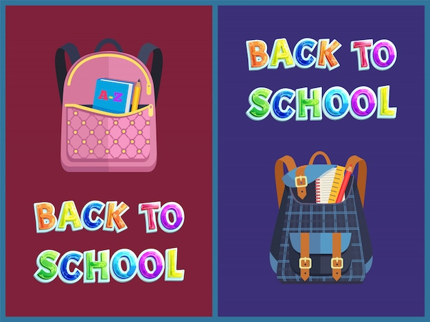 Girlie and unisex bags back to school