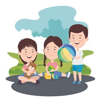 Девочки и мальчики детские мультики с игрушками
