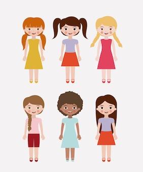 Девушки мультфильм