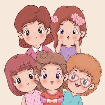 Girls cartoons illustration