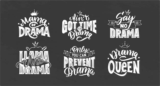 Набор логотипов для girls drama.