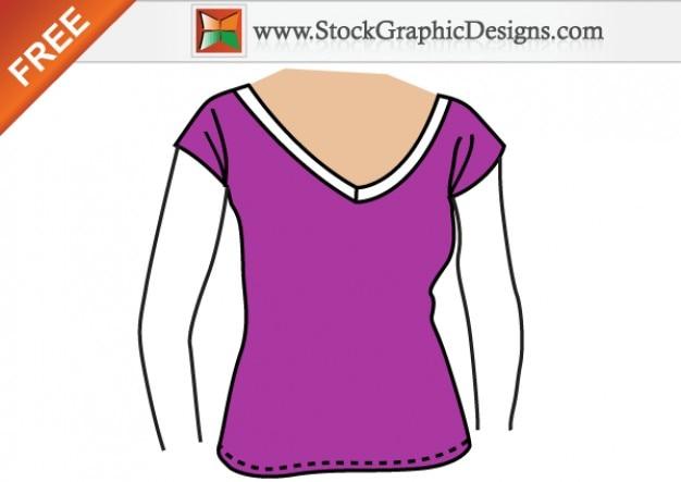 여자 무료 벡터 티셔츠 템플릿 디자인