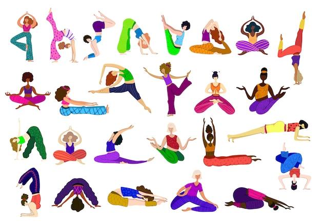 Girls practice meditation,