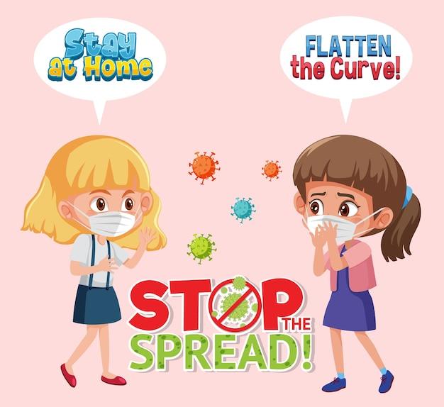 Girls stop spreading virus