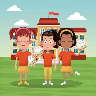 Girls voleyball school team