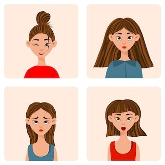 표정과 감정이 다른 소녀