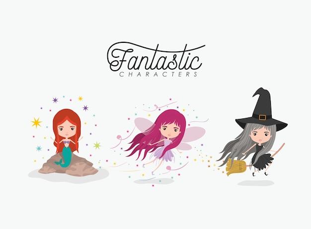 Girly fantastic character set